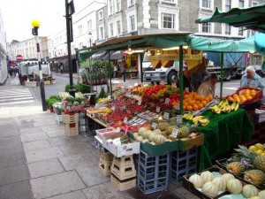 The Market stalls!!! Wow Notting Hill