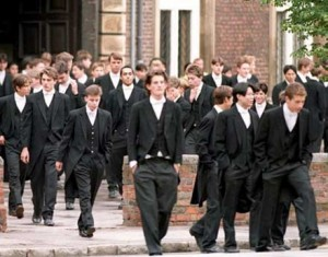 Eton students in Morning suits