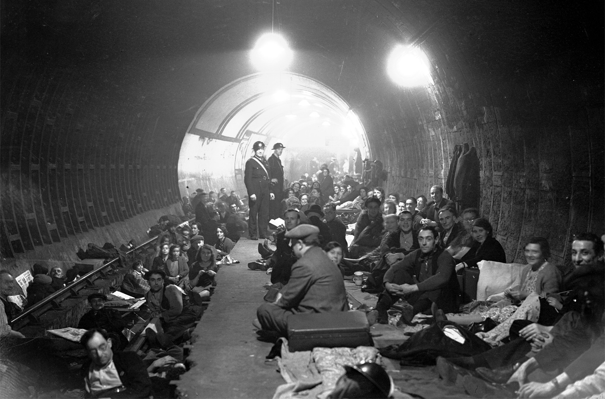 sleeping aldwych underground station
