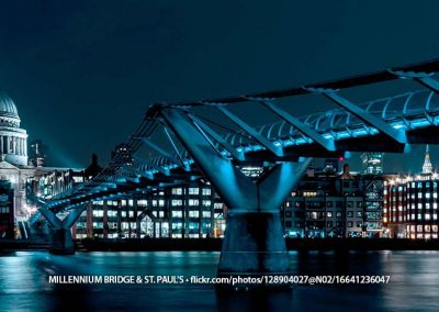 Millennium Bridge at Night