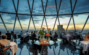 Searcys Club in 'The Gherkin'