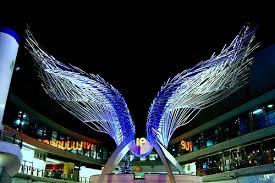 night time angel sculpture, Angel rentals