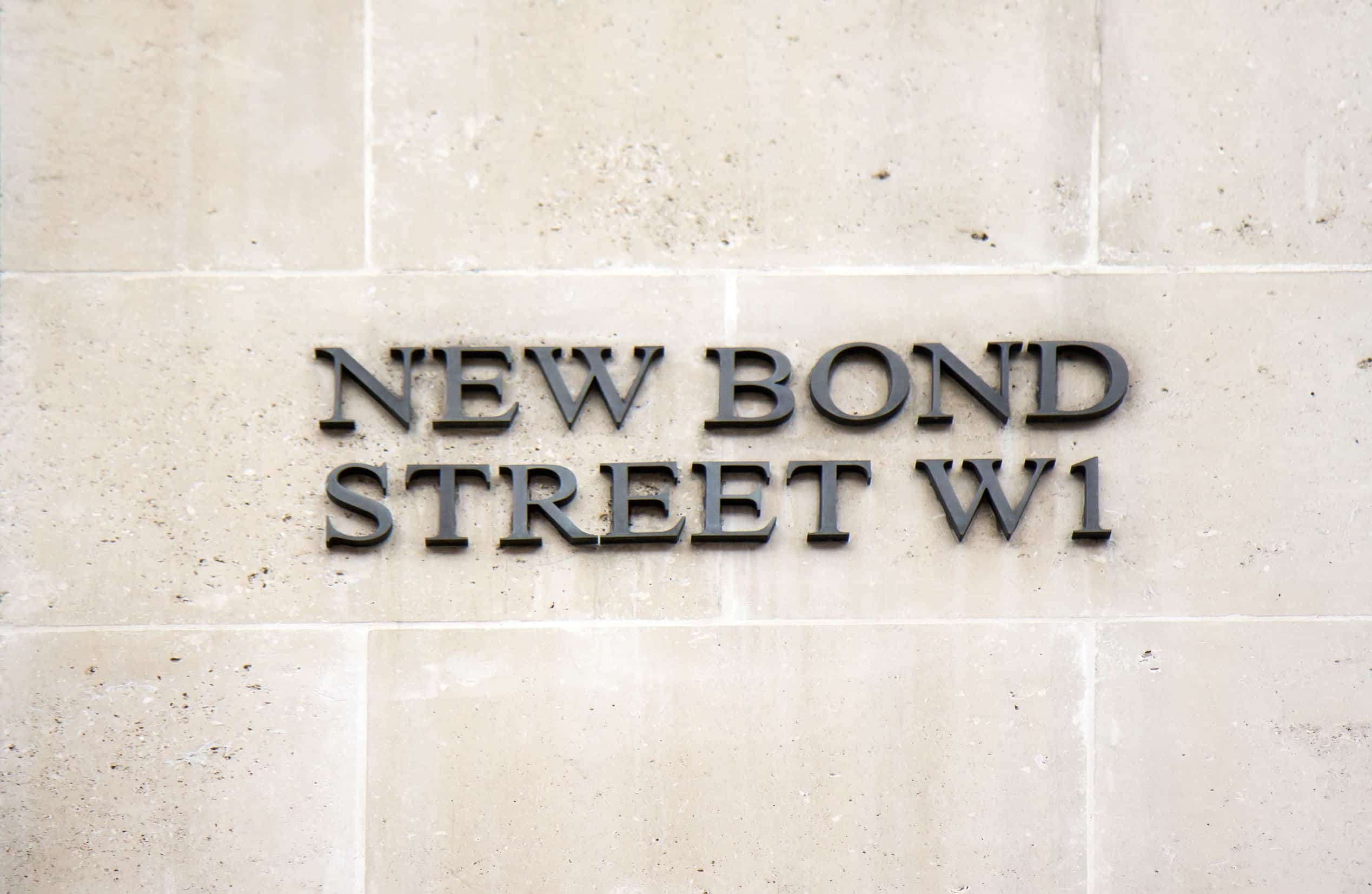 New Bond street sign