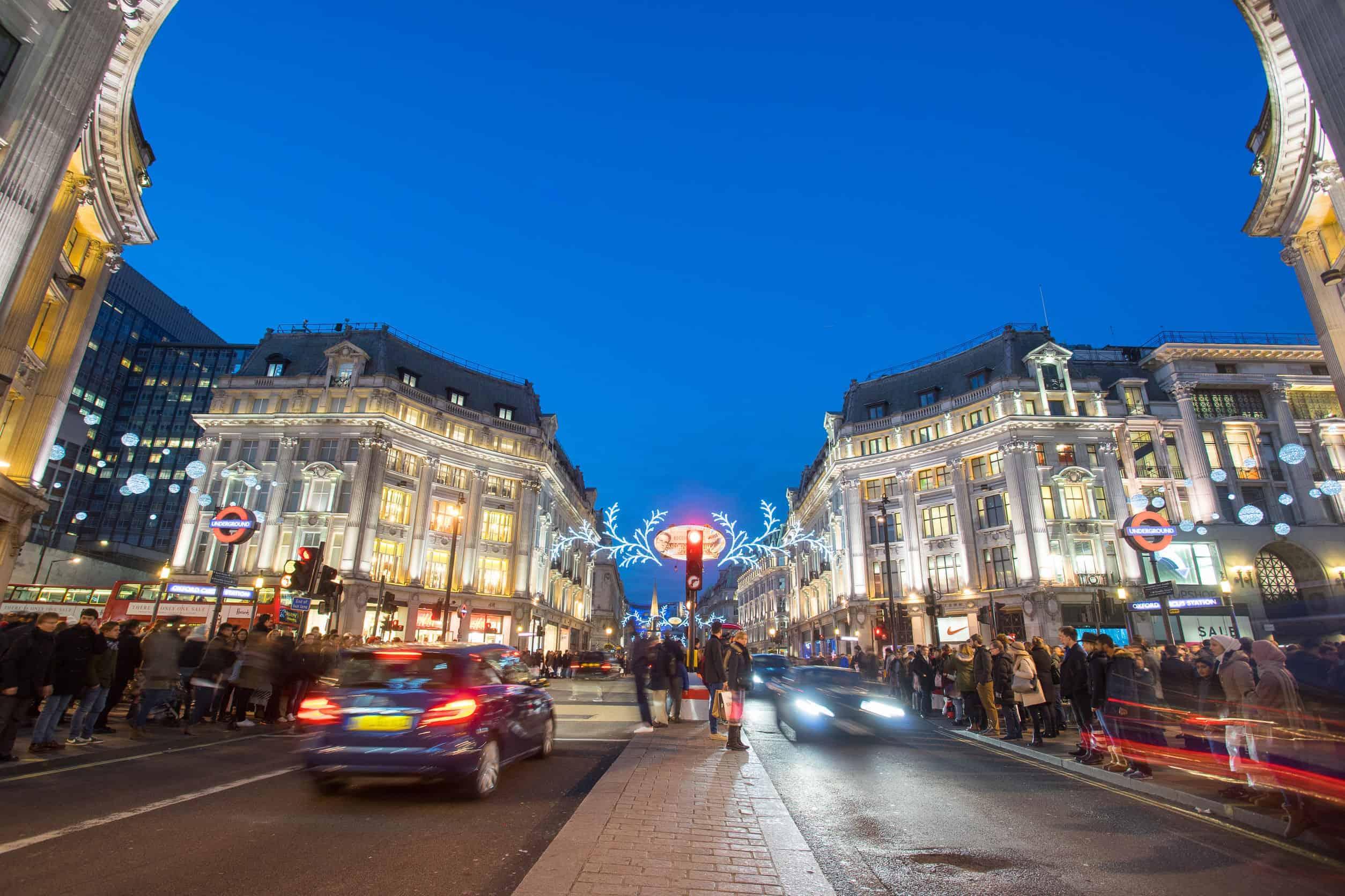 london, england, oxford street on sale season
