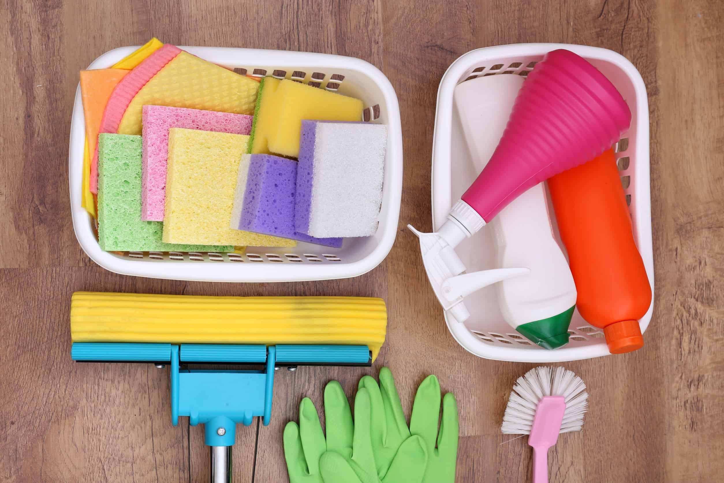 31139241 - collection of cleaning products and tools