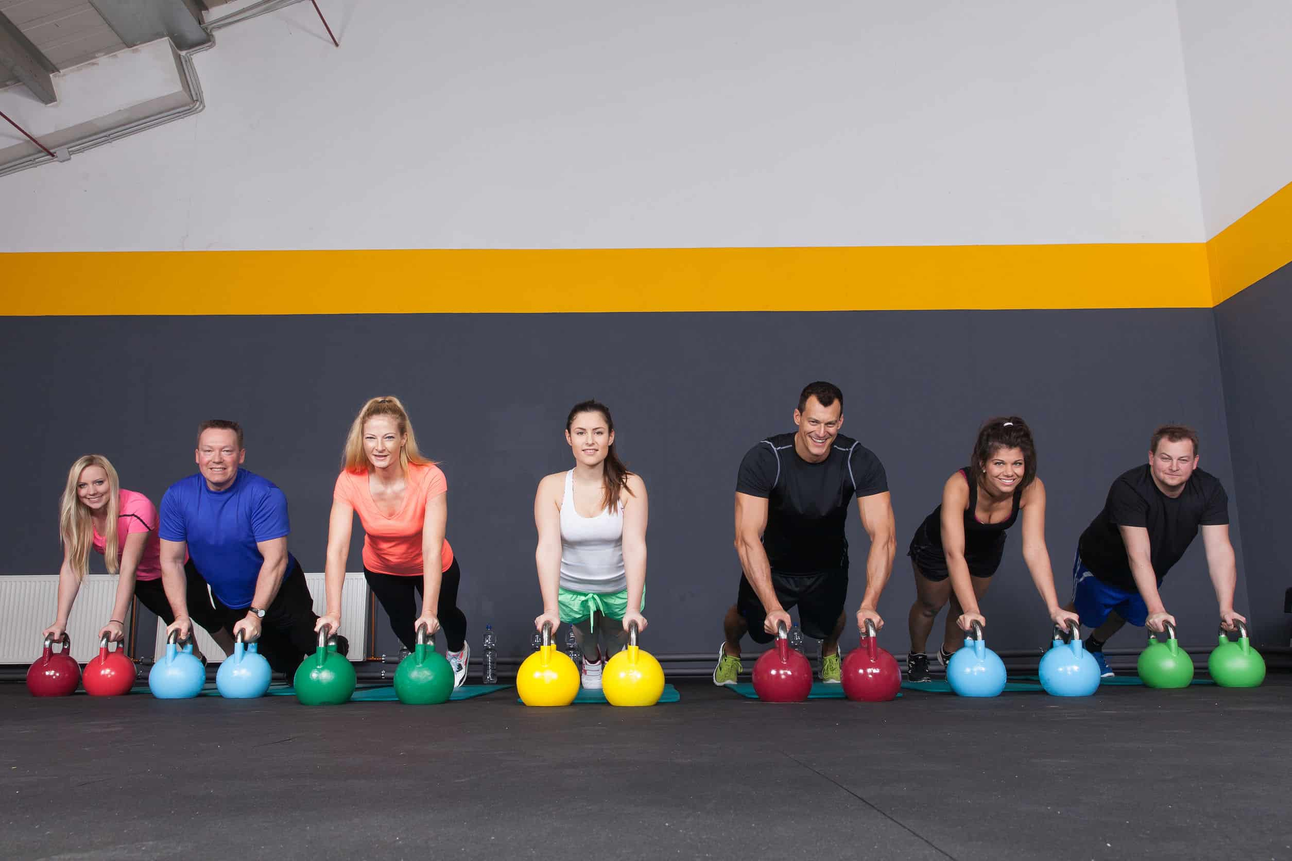 37462540 - crossfit pushup on kettlebells
