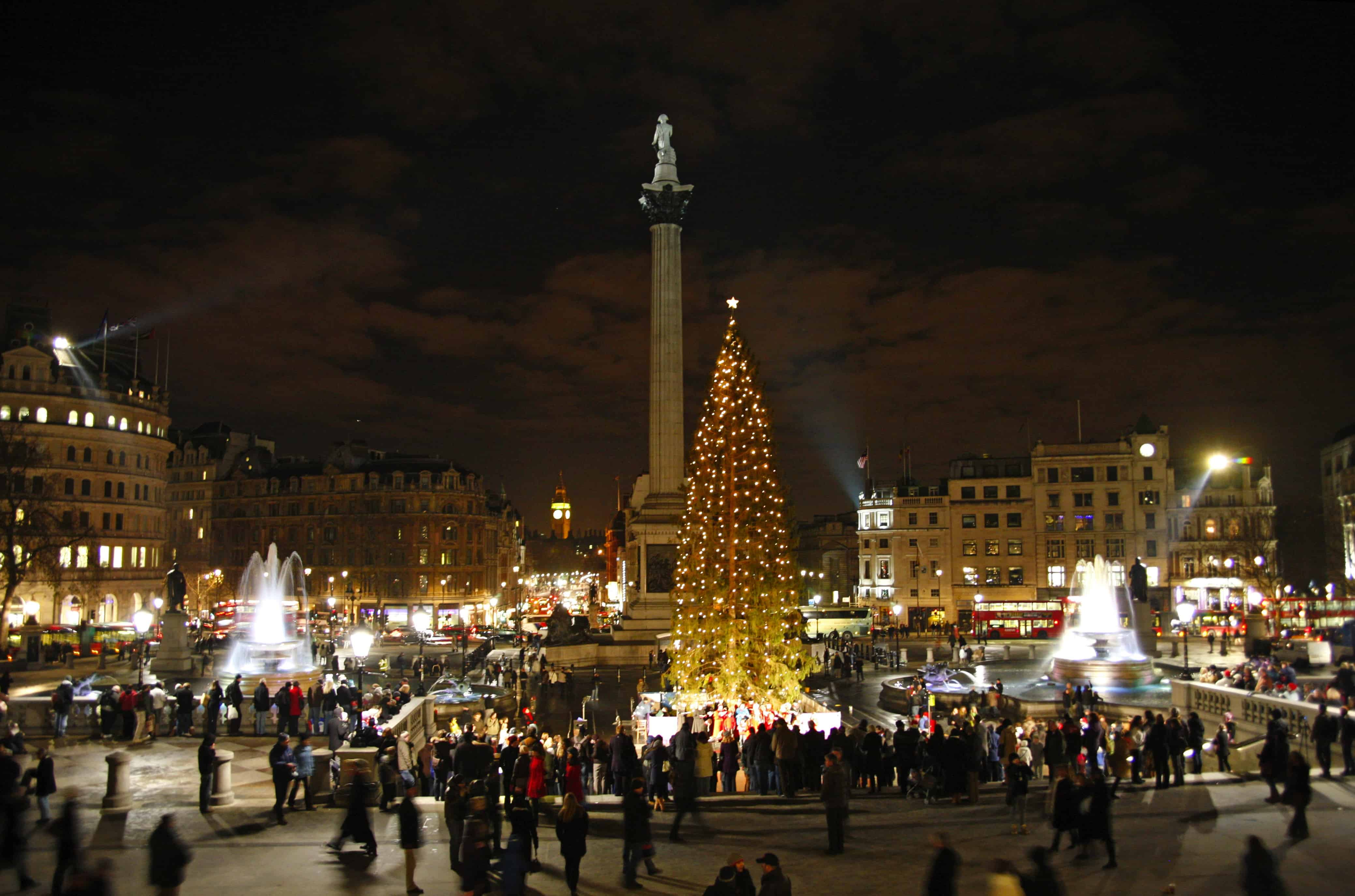 Manadatory Credit: Photo by Paul Brown / Rex Features (1065036d) Trafalgar Square Christmas Tree in London, England, Britain Trafalgar Square Christmas Tree in London, Britain - 19 Dec 2009