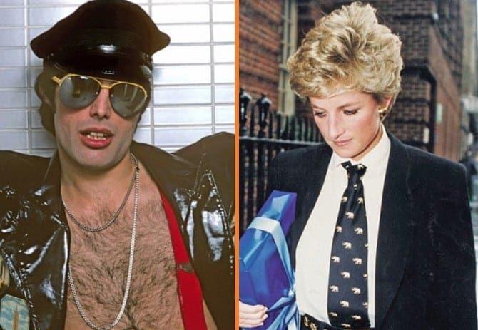 Princess Diana and F Mercury